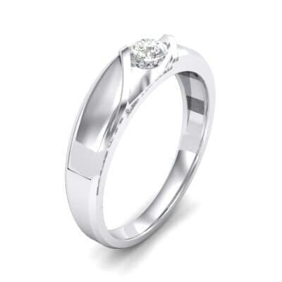 Voyage Solitaire Crystal Ring (0.17 CTW) Perspective View