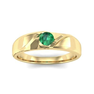 Voyage Solitaire Emerald Ring (0.17 CTW) Top Dynamic View
