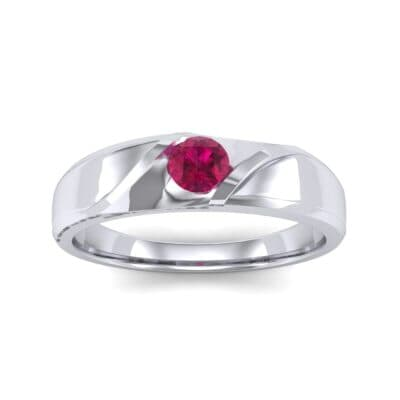 Voyage Solitaire Ruby Ring (0.17 CTW) Top Dynamic View