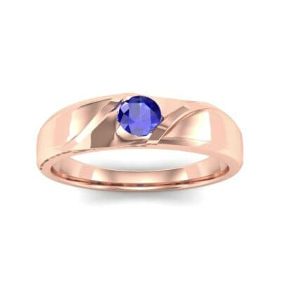 Voyage Solitaire Blue Sapphire Ring (0.17 CTW) Top Dynamic View