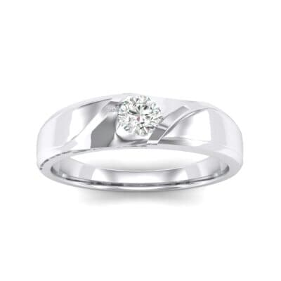 Voyage Solitaire Crystal Ring (0.17 CTW) Top Dynamic View