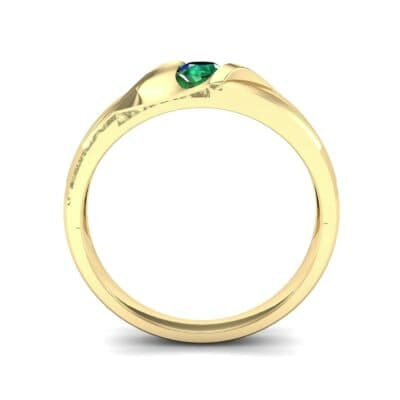 Voyage Solitaire Emerald Ring (0.17 CTW) Side View