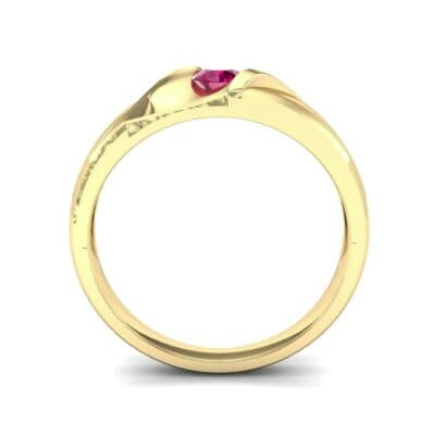 Voyage Solitaire Ruby Ring (0.17 CTW) Side View