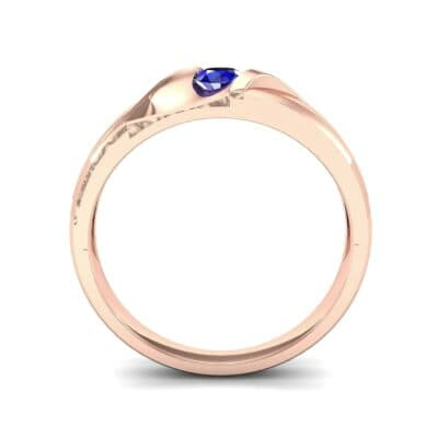 Voyage Solitaire Blue Sapphire Ring (0.17 CTW) Side View