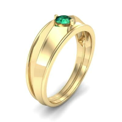 North Star Emerald Ring (0.17 CTW) Perspective View