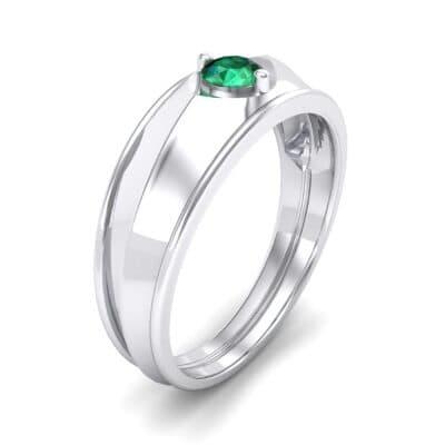 North Star Emerald Ring (0.17 CTW)
