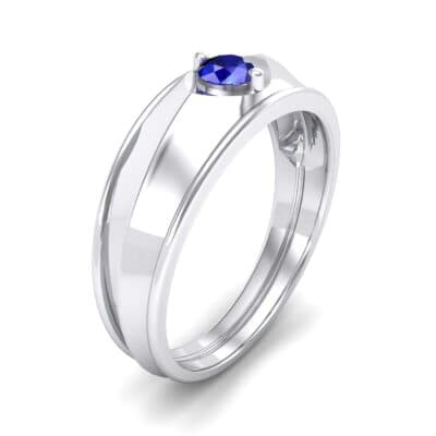 North Star Blue Sapphire Ring (0.17 CTW) Perspective View
