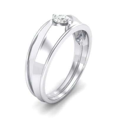 North Star Crystal Ring (0.17 CTW) Perspective View