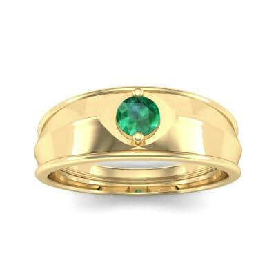 North Star Emerald Ring (0.17 CTW) Top Dynamic View