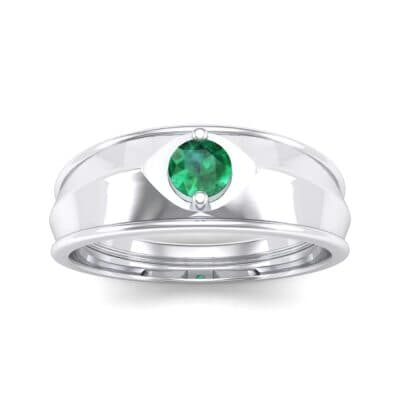 Ij125 Render 1 01 Camera2 Stone 1 Emerald 0 Floor 0 Metal 4 White Gold 0 Emitter Aqua Light 0