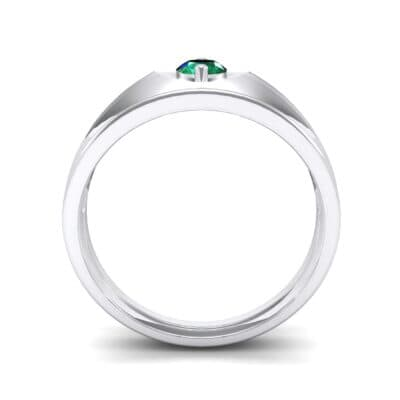 North Star Emerald Ring (0.17 CTW) Side View