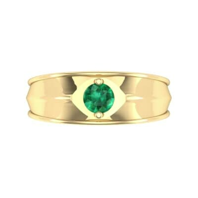 North Star Emerald Ring (0.17 CTW) Top Flat View