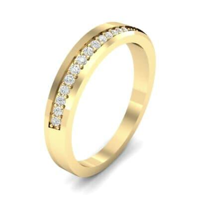 Pave Bevel Diamond Ring (0.09 CTW)