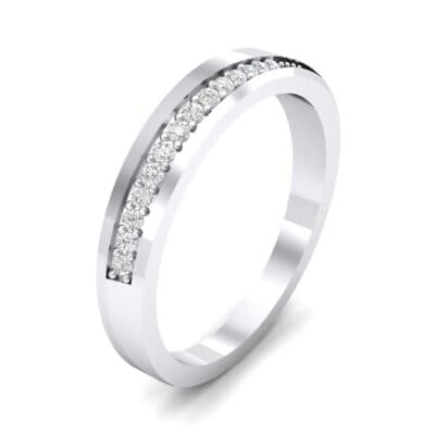 Pave Bevel Crystal Ring (0.09 CTW) Perspective View