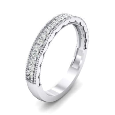Sylvia Milgrain Pave Crystal Ring (0.21 CTW) Perspective View