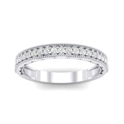 Sylvia Milgrain Pave Crystal Ring (0.21 CTW) Top Dynamic View