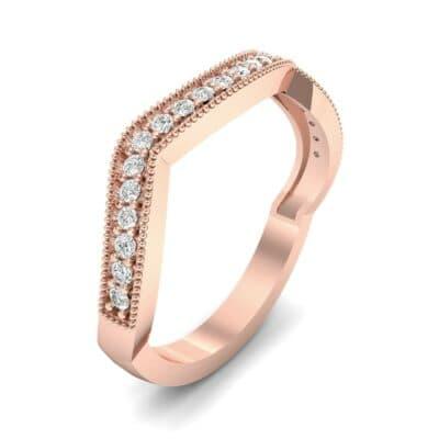 Curved Milgrain Pave Diamond Ring (0.23 CTW)