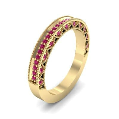 Petite Three-Sided Filigree Ruby Ring (0.48 CTW) Perspective View