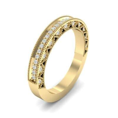 Petite Three-Sided Filigree Diamond Ring (0.48 CTW) Perspective View