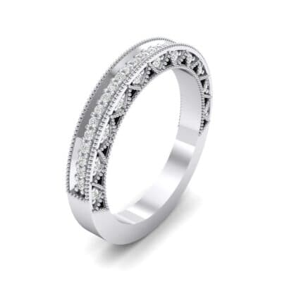 Petite Three-Sided Filigree Crystal Ring (0.48 CTW) Perspective View