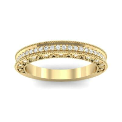 Petite Three-Sided Filigree Diamond Ring (0.48 CTW) Top Dynamic View