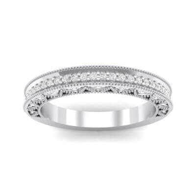 Petite Three-Sided Filigree Crystal Ring (0.48 CTW) Top Dynamic View