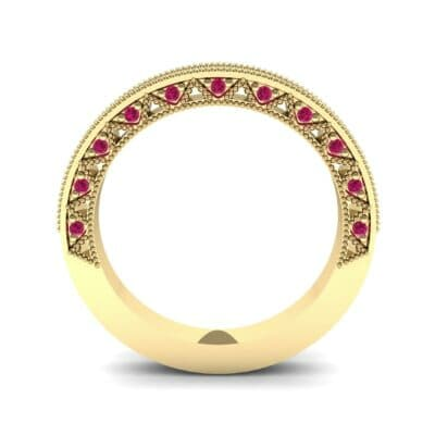 Petite Three-Sided Filigree Ruby Ring (0.48 CTW) Side View