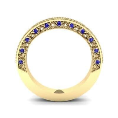 Petite Three-Sided Filigree Blue Sapphire Ring (0.48 CTW) Side View