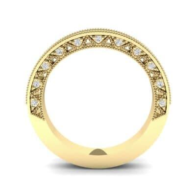 Petite Three-Sided Filigree Diamond Ring (0.48 CTW) Side View