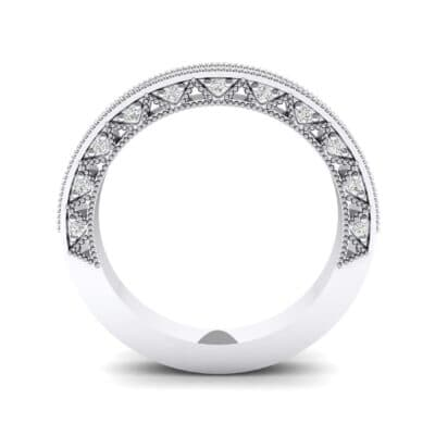 Petite Three-Sided Filigree Crystal Ring (0.48 CTW) Side View