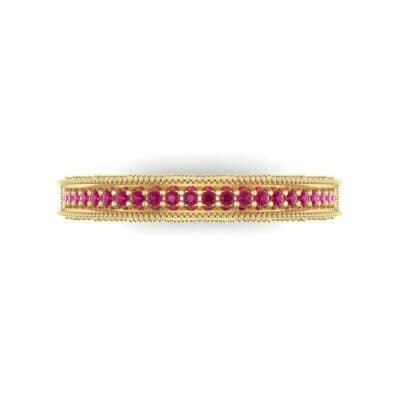 Petite Three-Sided Filigree Ruby Ring (0.48 CTW) Top Flat View