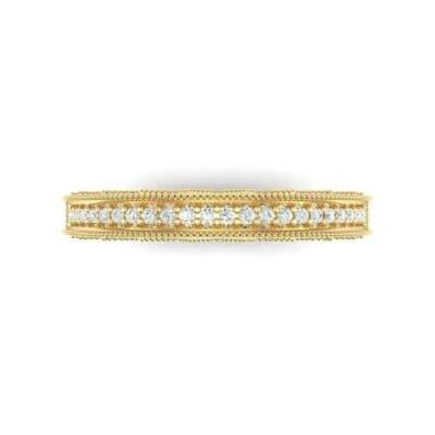 Petite Three-Sided Filigree Diamond Ring (0.48 CTW) Top Flat View