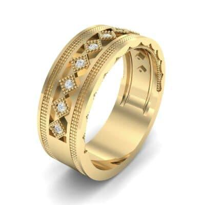 Wide Harlequin Diamond Ring (0.11 CTW)