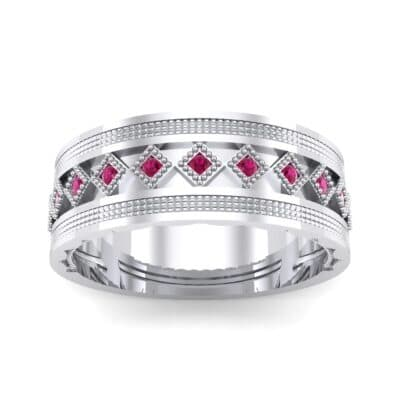 Wide Harlequin Ruby Ring (0.11 CTW) Top Dynamic View