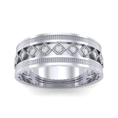 Wide Harlequin Diamond Ring (0.11 CTW) Top Dynamic View