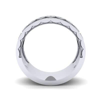 Wide Harlequin Diamond Ring (0.11 CTW) Side View