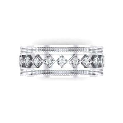 Wide Harlequin Diamond Ring (0.11 CTW) Top Flat View