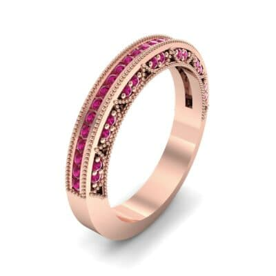 Arc Three-Sided Filigree Ruby Ring (0.53 CTW) Perspective View
