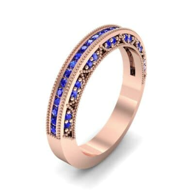 Arc Three-Sided Filigree Blue Sapphire Ring (0.53 CTW) Perspective View