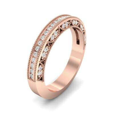 Arc Three-Sided Filigree Diamond Ring (0.53 CTW)