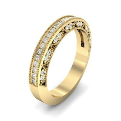 Arc Three-Sided Filigree Diamond Ring (0.53 CTW) Perspective View