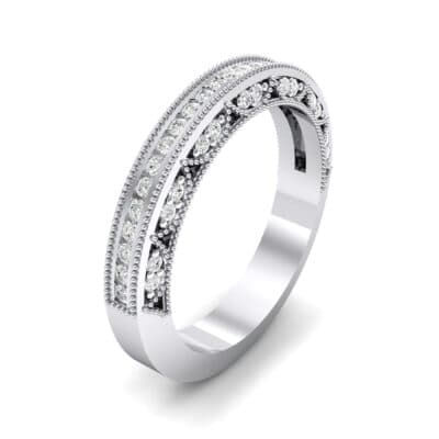 Arc Three-Sided Filigree Crystal Ring (0.53 CTW) Perspective View
