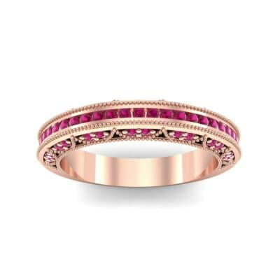 Arc Three-Sided Filigree Ruby Ring (0.53 CTW) Top Dynamic View