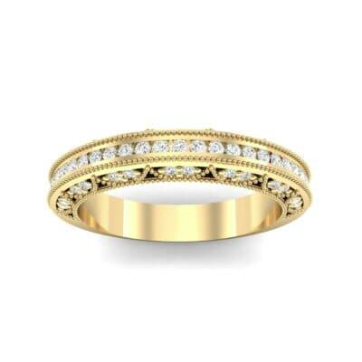 Arc Three-Sided Filigree Diamond Ring (0.53 CTW) Top Dynamic View