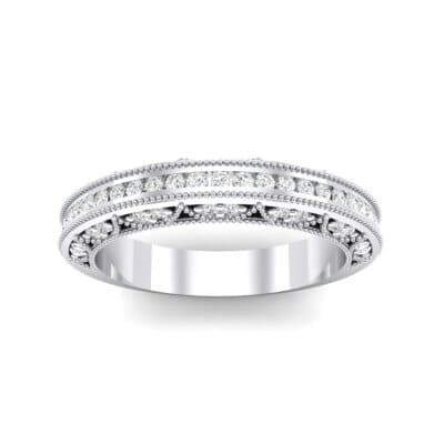 Arc Three-Sided Filigree Crystal Ring (0.53 CTW) Top Dynamic View