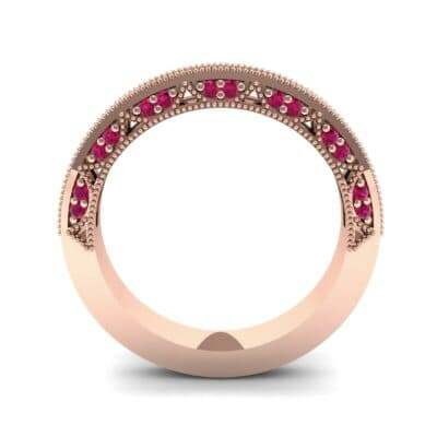Arc Three-Sided Filigree Ruby Ring (0.53 CTW) Side View