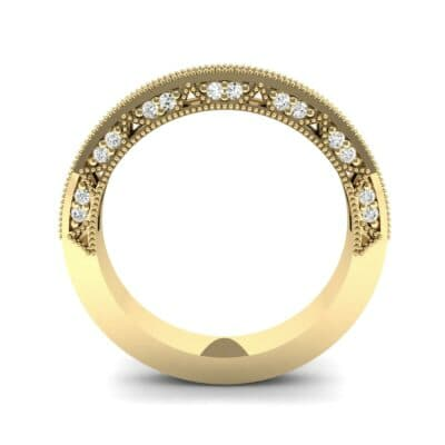 Arc Three-Sided Filigree Diamond Ring (0.53 CTW) Side View