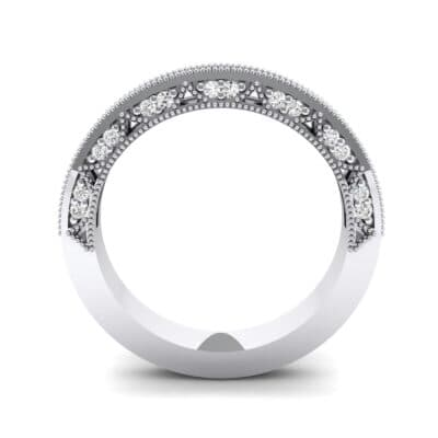 Arc Three-Sided Filigree Crystal Ring (0.53 CTW) Side View