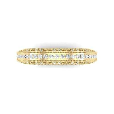 Arc Three-Sided Filigree Diamond Ring (0.53 CTW) Top Flat View