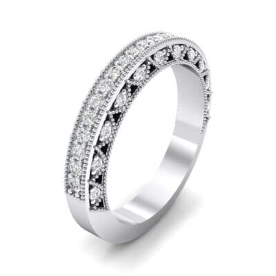 Three-Sided Filigree Crystal Ring (0.39 CTW) Perspective View